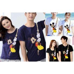 Mickey Rope - Kaos Couple / Baju Pasangan / Couple Grosir