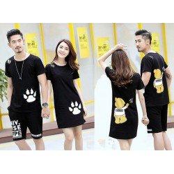 Mini Dress Bear Hand - Kaos Couple / Baju Pasangan / Grosir Couple