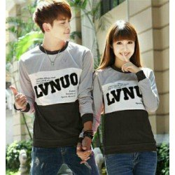 Sweater LVNUO New Abu Hitam - Sweater Couple / Fashion / Supplier / Grosir