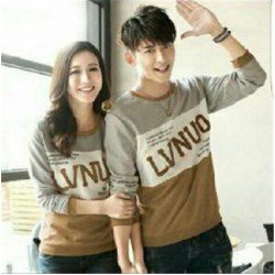 Sweater LVNUO New Abu Mocca - Sweater Couple / Fashion / Supplier / Grosir