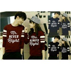 Sweater Never Always - Sweater Couple / Fashion / Supplier / Grosir