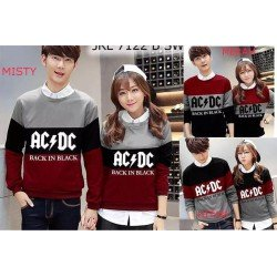 Sweater Triple ACDC - Mantel / Busana / Fashion / Couple / Pasangan / Babyterry / Kasual