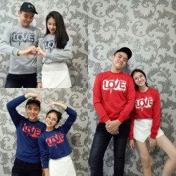 Sweater Love Actually - Mantel / Busana / Fashion / Couple / Pasangan / Babyterry / Kasual