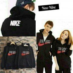Jacket Nike Font - Jaket Couple / Fashion Pasangan / Supplier Grosir Baju Murah Unik