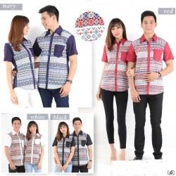 Flow Strech - Kemeja Couple / Batik Couple / Baju Pasangan / Grosir / Couple
