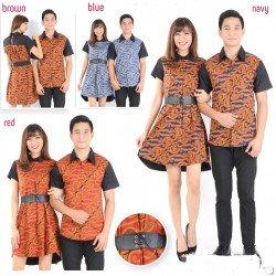 Dress Batik Jersy - Dress Couple / Batik Couple / Grosir / Baju Pasangan