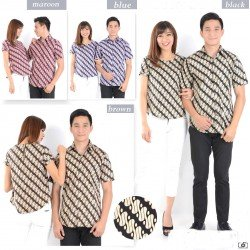 Batik Domino - Kemeja Couple / Batik Couple / Pasangan / Supplier / Couple