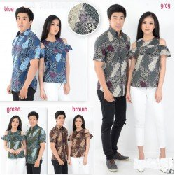 Batik Flower - Kemeja Couple / Batik Couple / Baju Pasangan / Grosir / Couple