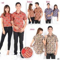 Batik Melati Rumbai - Kemeja Couple / Batik Couple / Baju Pasangan / Grosir / Couple