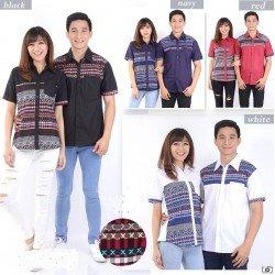 Diamond Strech - Kemeja Couple / Batik Couple / Baju Pasangan / Grosir / Couple