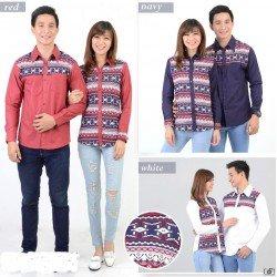 Rami Motif - Kemeja Couple / Batik Couple / Baju Pasangan / Grosir / Couple