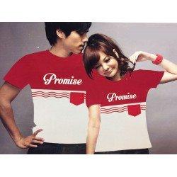 Promise Pocket - Baju / Kaos / Oblong / Couple / Pasangan / Kombinasi / Katun
