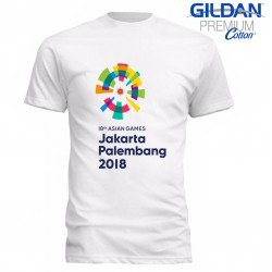 Gildan Premium Asian Games 2018 New Logo - Kaos Pria / Kaos Wanita / Kaos Gildan / Limited Edition